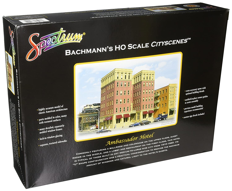 Bachmann Industries cityscenes Building Kit Ambassador Hotel HO Maßstab Zug