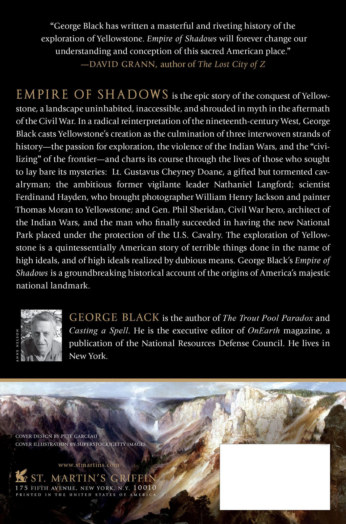Empire of Shadows: The Epic Story of Yellowstone: George Black: 9781250023209: Amazon.com: Books