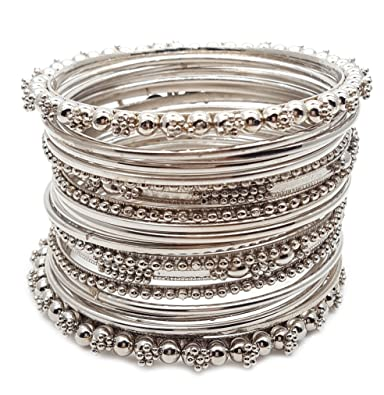 loading silver antique bollywood bangles style ethnic bracelet fashion indian s itm jewelry bangle jewellery image is