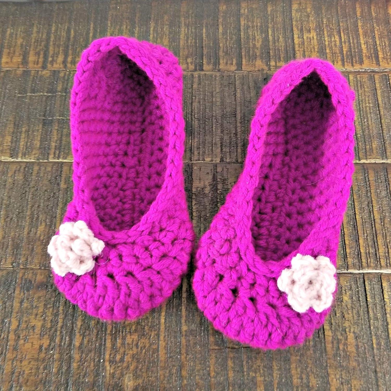 30fc99c201d02 Amazon.com: Womens handmade slippers -purple handmade slipper with ...