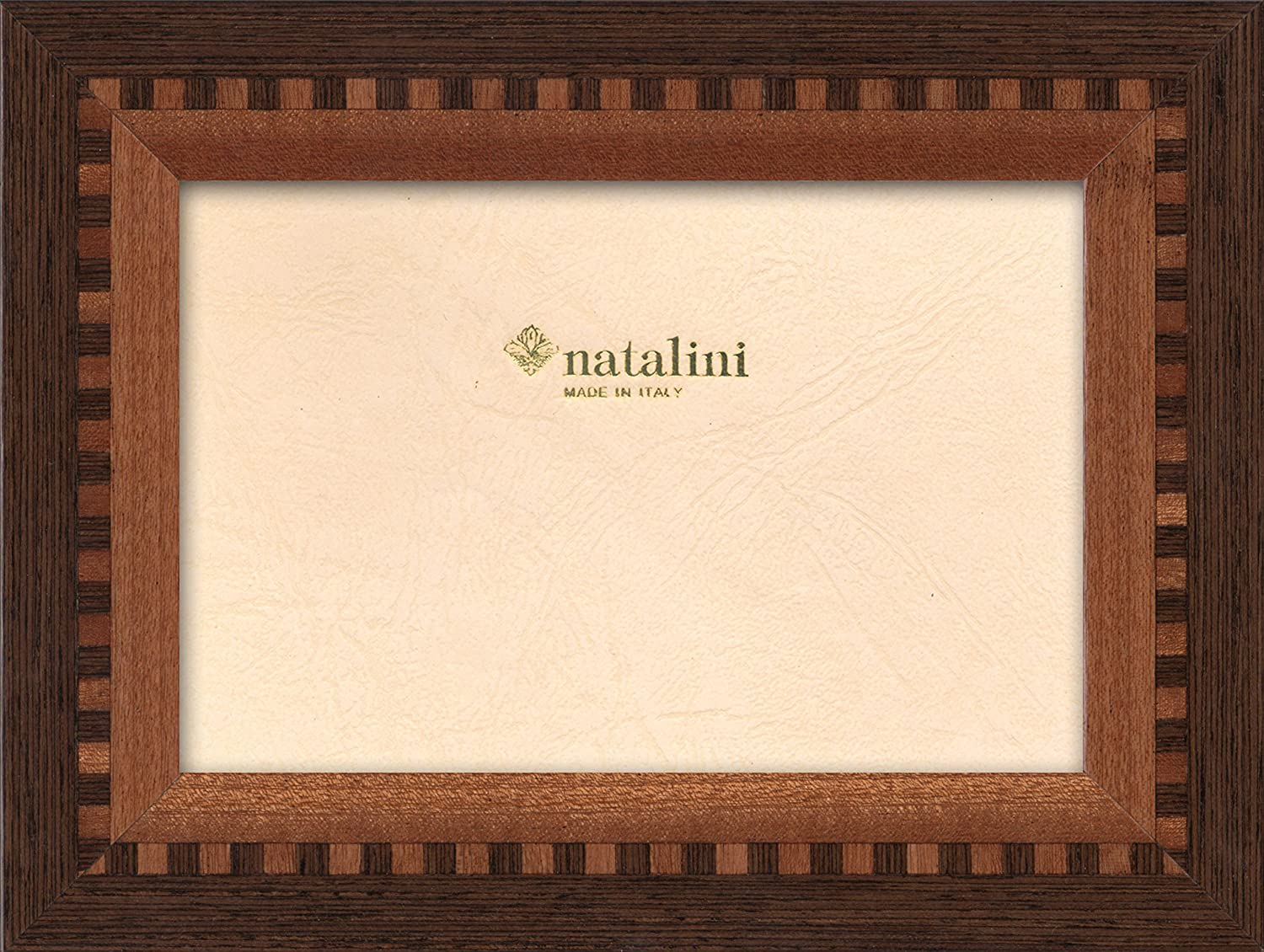 Black Tulipwood 5X 7 Natalini Marquetry Photo Frame Made in Italy