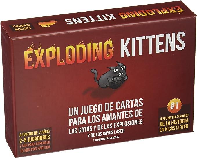 Exploding Kittens- Juego de cartas (EKEK0001): Amazon.es: Juguetes y juegos