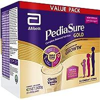 Abbott PediaSure Gold: Complete Balanced Nutrition for Children - Value Pack - 4x600g, Classic Vanilla, 2.4 kg (Pack of 4)
