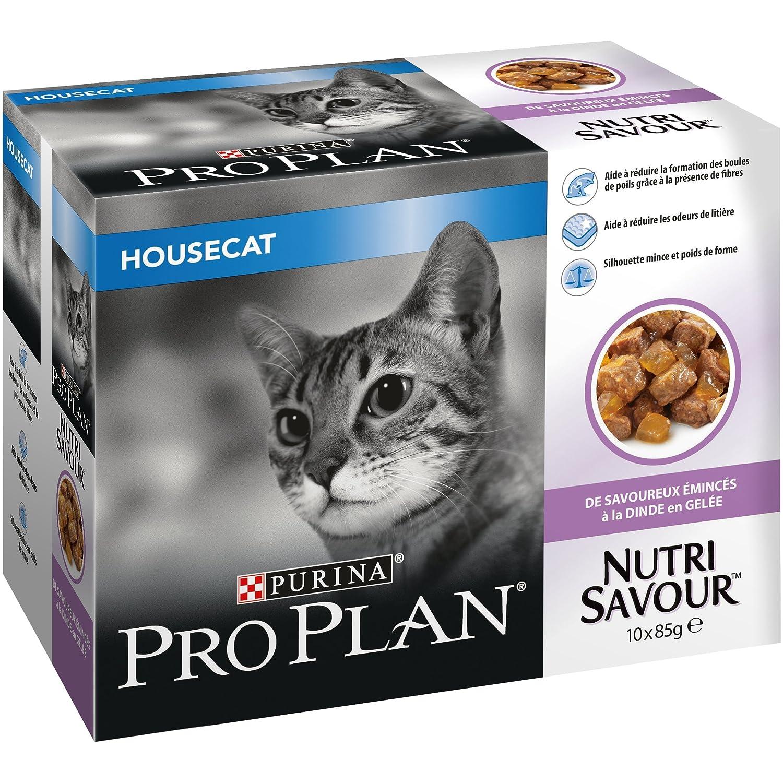 PRO PLAN Nutrisavour Housecat - A la Dinde en gelée - 10 x 85g - Sachets repas pour chat adulte Purina Pro Plan 12310845