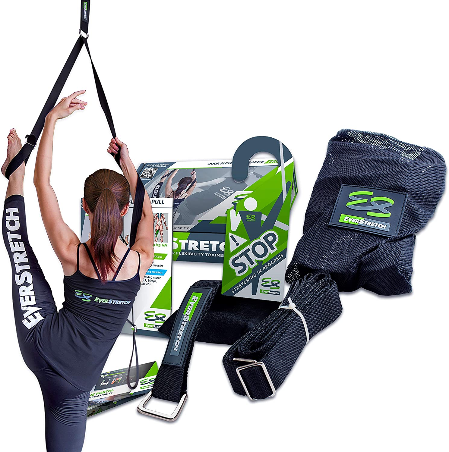 EverStretch Leg Stretcher: Get More Flexible with The Door Flexibility Trainer PRO Premium Stretching Equipment for Ballet, Dance, MMA, Taekwondo & Gymnastics. Your own Portable Stretch Machine! : Sports & Outdoors