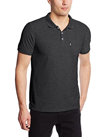 Levis Mens Rillo Short Sleeve Pique Polo, Caviar, XX-Large ...