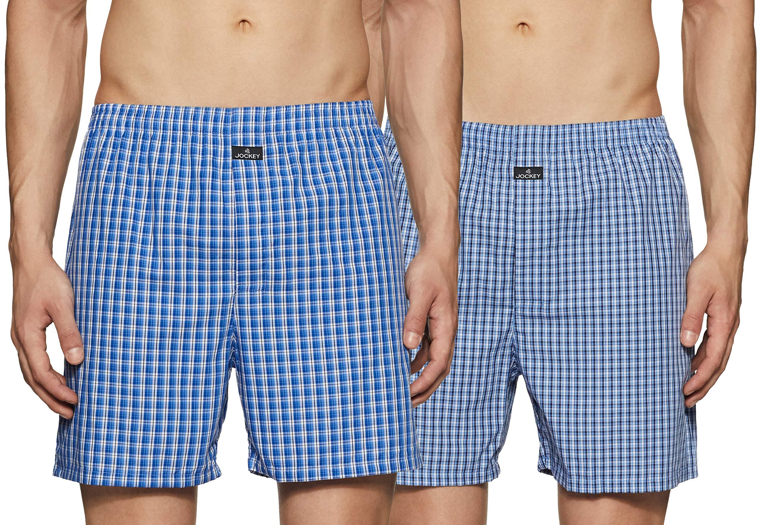 Jockey Men's Cotton Boxers (Pack of 2)(1222-0210-ASSTD Boxer Shorts M) (B0090E1DOE) Amazon Price History, Amazon Price Tracker