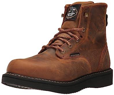 5950489cd8a Georgia GB00124 Mid Calf Boot Distressed Brown 8.5 M US