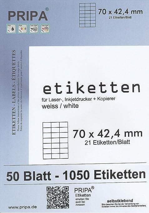 Etiketten A5 1000 Stück 500 Blatt A4 pro Blatt 2 Etiketten A5 selbstklebend