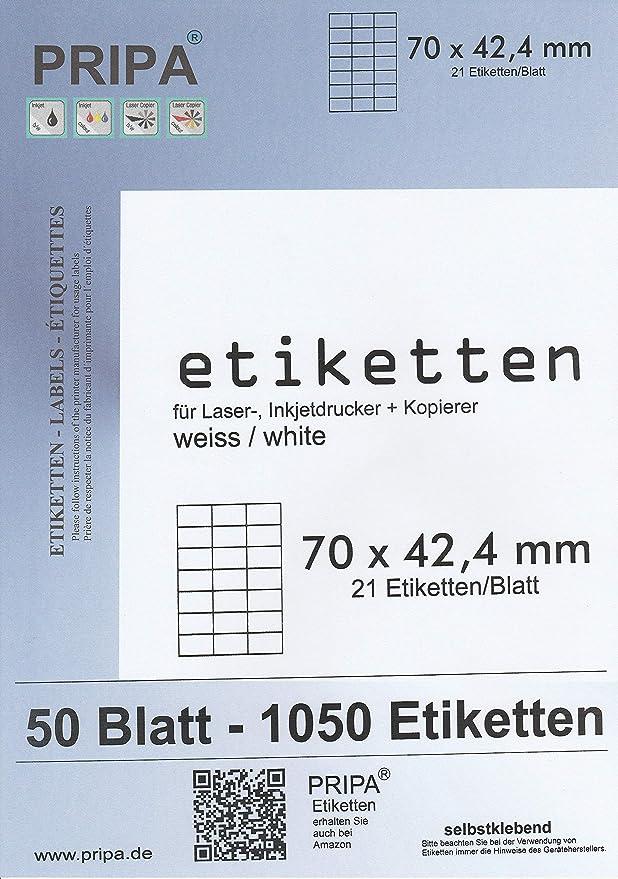 100 Blatt Laser Inkjet Kopierer Klebeetiketten DIN A4 weiß 210x148mm