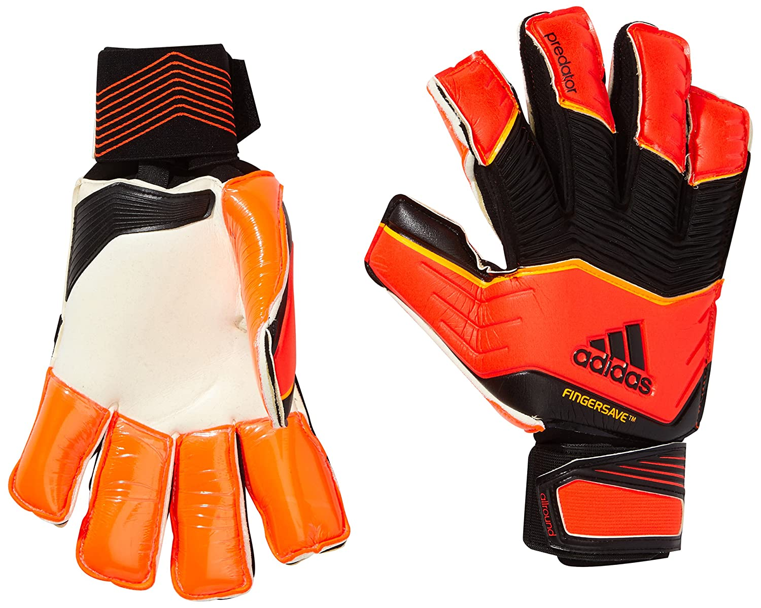 online retailer 1646a a9052 coupon code for adidas adult predator zones fingersave gloves red solar red  black solar gold size11