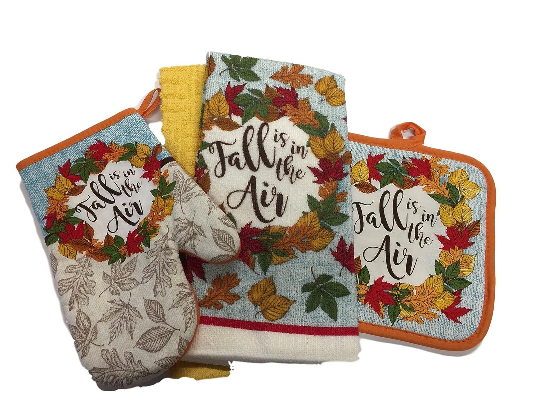 The Perfect Kitchen Decor Fall Kitchen Towels Linen Bundle