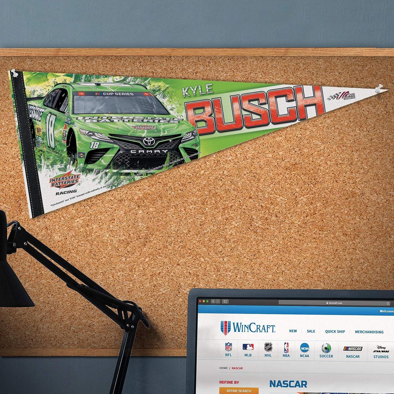 na WinCraft NASCAR Joe Gibbs Racing Kyle Busch NASCAR Kyle Busch #18 12 x 30 Premium Pennant Multi