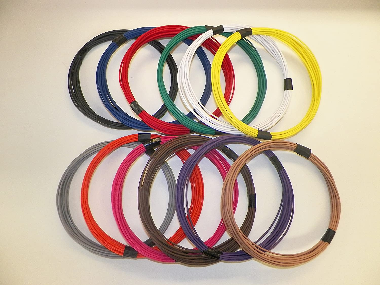 HIGH TEMP WE HAVE MANY COLORS 16 AWG GXL RED AUTOMOTIVE WIRE 25 FEET