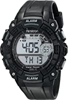 Armitron Sport Men's 49mm Digital Chronograph Black Strap Watch