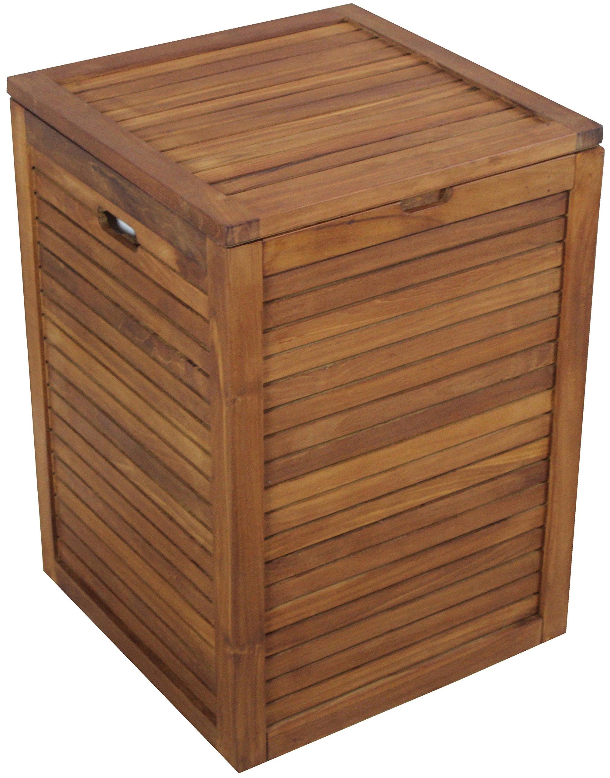 The Original Nila Large Size Teak Laundry or Storage Hamper