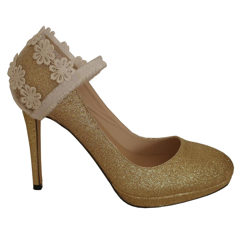 Décorations de chaussures de dentelle, accessoires de chaussures de mariage, des embellissements de talon SACL