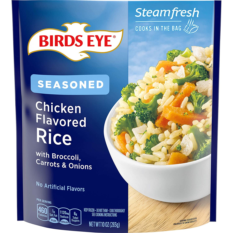 Birds Eye Steamfresh Seasoned Chicken Flavored Rice, 10 OZ