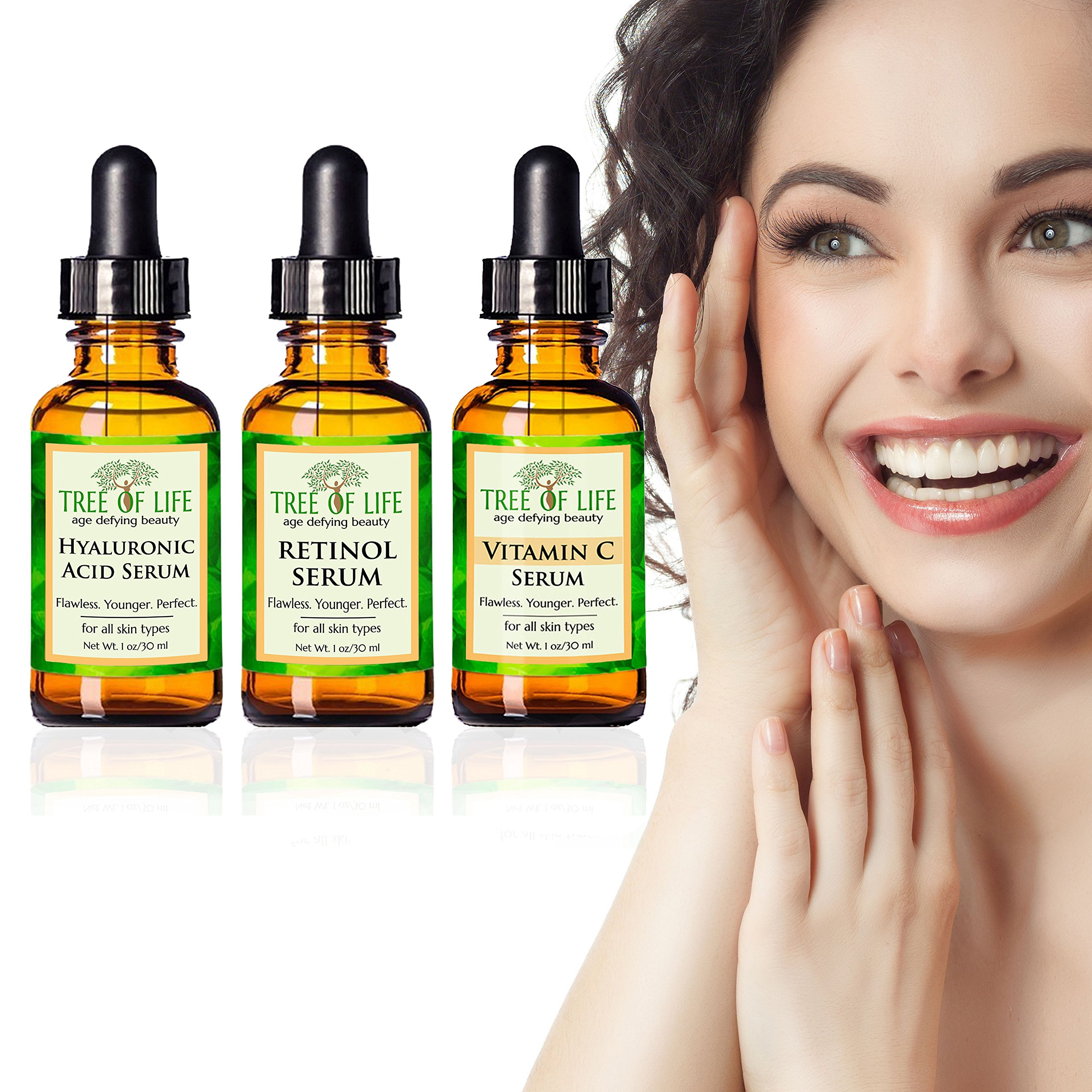 Anti Aging Serum 3-Pack - Face Serum Full Regimen by Flawless. Younger. Perfect. (Image #5)