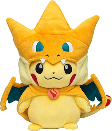 Amazon Com Pokemon Center Original Pikachu Wearing A Poncho Of