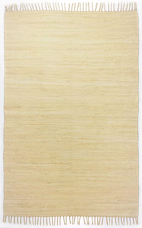 Theko Happy Cotton Alfombra, 100% algodón, Beige, 40 x 60 cm ...