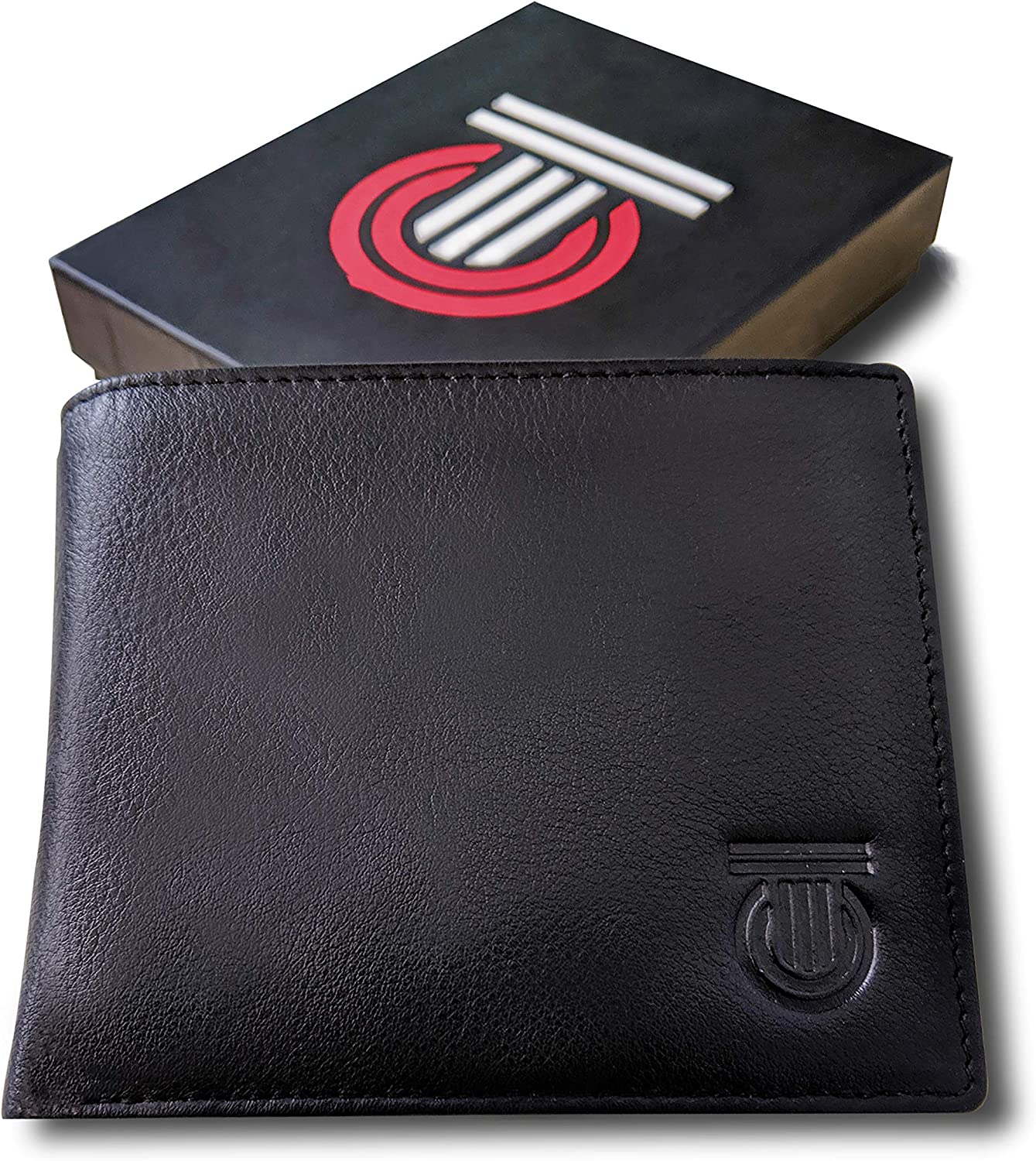 Mens Leather Wallet with Window ID Pocket and RFID Blocking