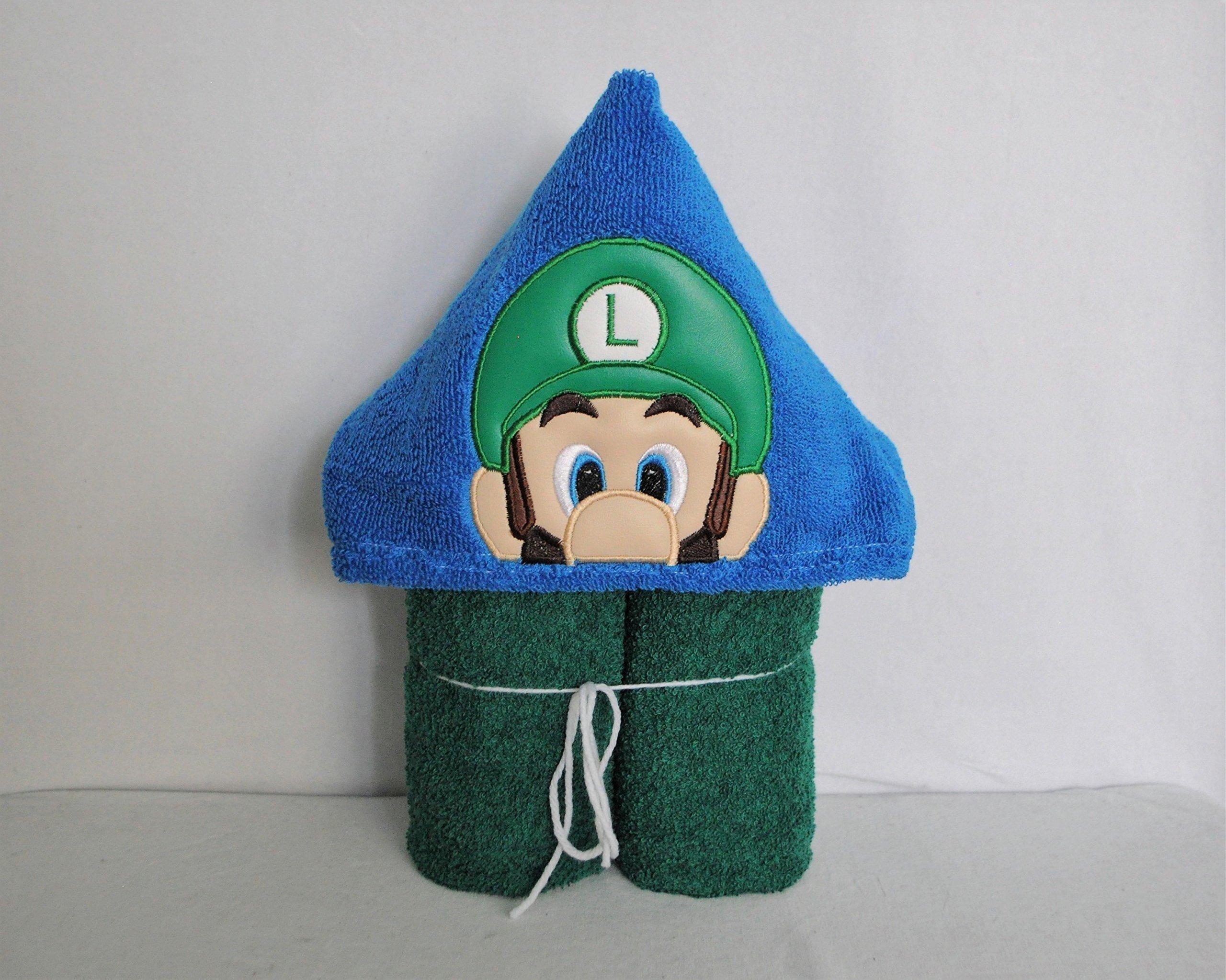 Green Super Game Guy Hooded Bath Towel - Baby, Child, Tween