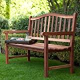 Belham Living Richmond Curved Back 4 Ft. Outdoor Wood Bench