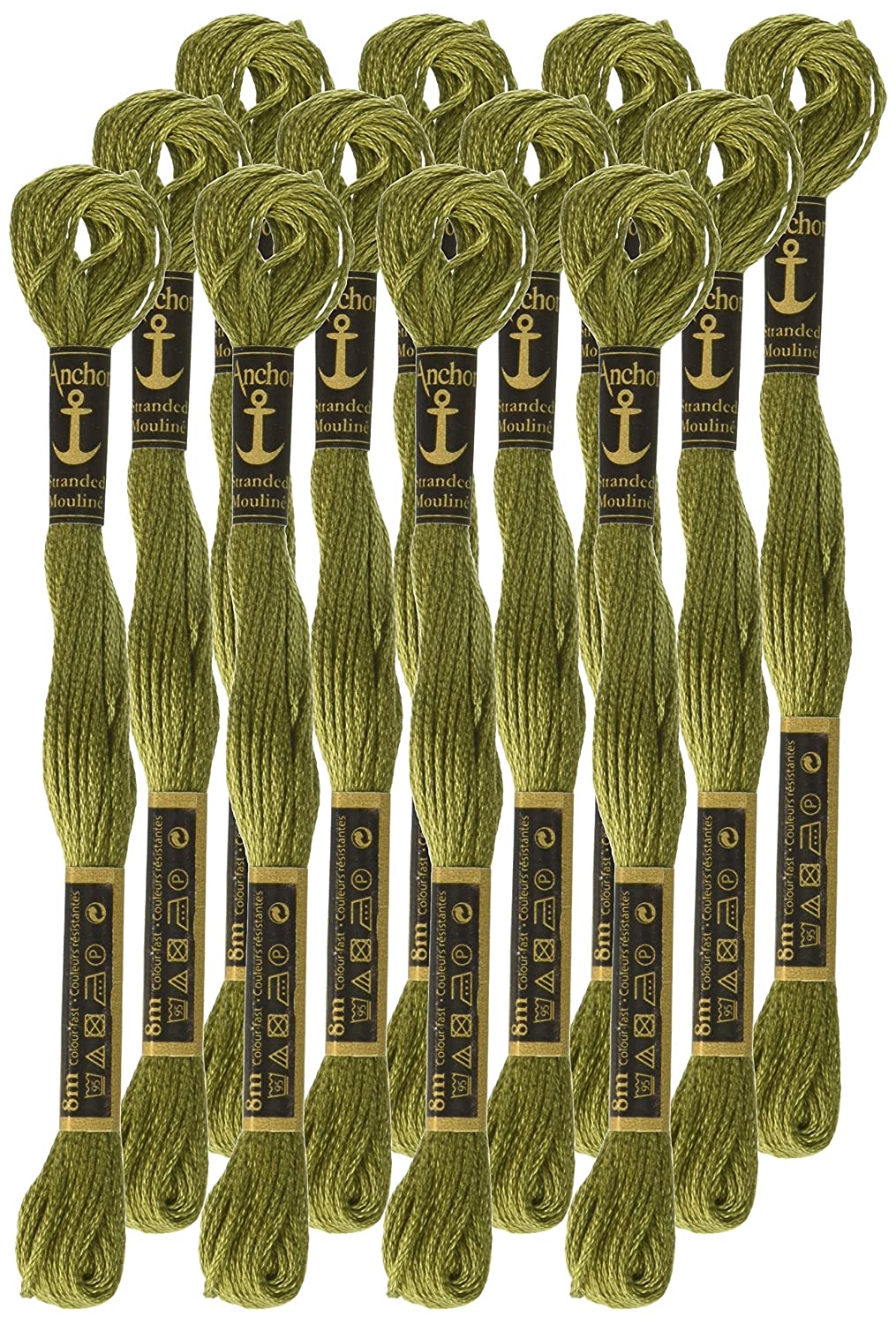 Anchor Stranded Cotton 8m Colours 254-266 100% Cotton Embroidery Thread Skeins Art & Craft Supplies