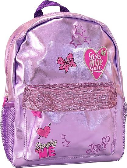 "JOJO SIWA BOW LARGE BACKPACK 15/"" GIRLS GIFT TRAVEL BAG PINK SCHOOL BACKPACK NEW"