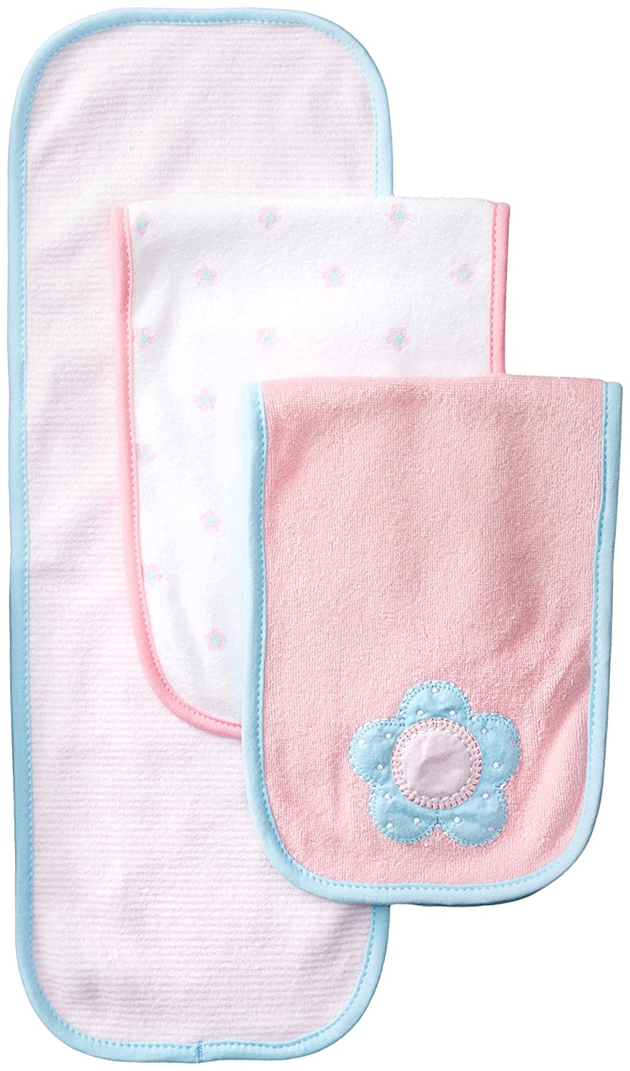 amazoncom gerber baby girlsu0027 3 pack terry burp cloths love one size clothing