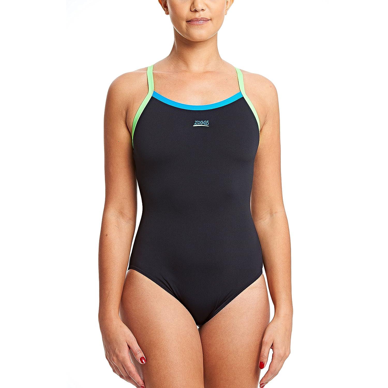 Black//Blue//Brasil ZOGGS Women Cannon Strikeback Swimsuit