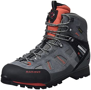 Mammut Damen Ayako High Gtx Trekking-& Wanderstiefel, Grau (Grey/Dark Barberry 000), 38 EU