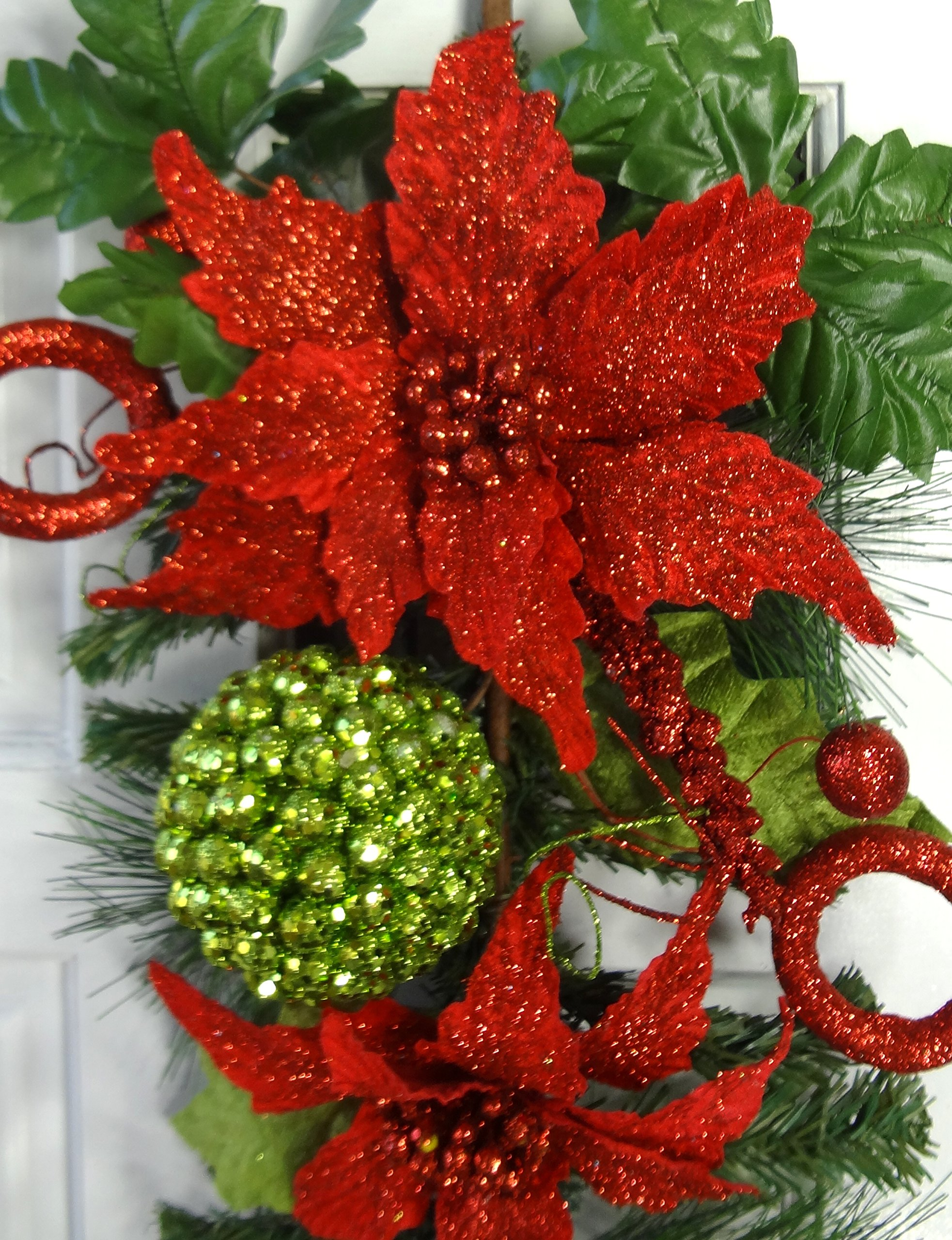 24'' Christmas Poinsettia Teardrop