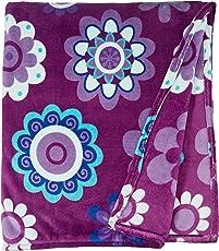 Colchas Concord Katya Cobertor Ultrasuave, color Morado, King