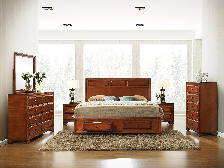 Amazon.com: Roundhill Furniture Oakland 139 Antique Oak Finish ...