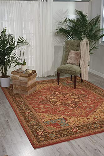 Nourison Living Treasures Rust Rectangle Area Rug, 9-Feet 9-Inches by 13-Feet 9-Inches 9 9 x 13 9