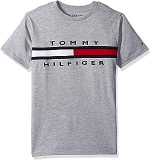 2027cb88ba12 Amazon.com  Tommy Hilfiger Boys  Core Crew-Neck Ken T-Shirt  Fashion ...