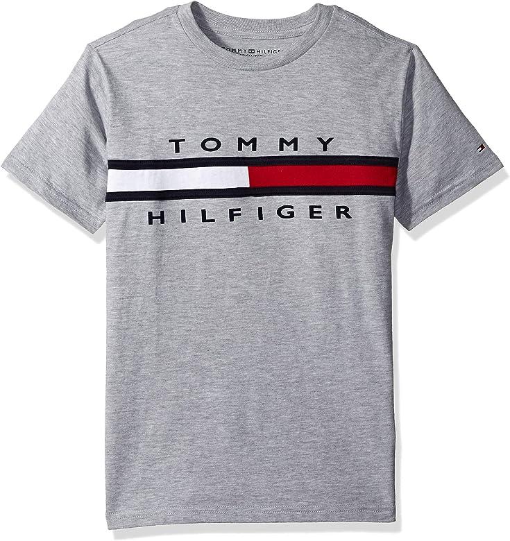 Tommy Hilfiger Niños Manga corta Camiseta - Gris - 24 meses: Amazon.es: Ropa y accesorios