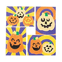Jack O Lantern Sand Art Sheets - Crafts for Kids and Fun Home Activities