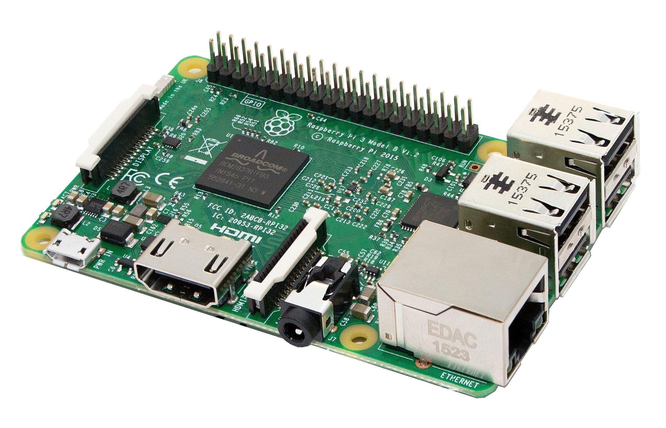 Raspberry Pi 3 Modelo B - Placa base (1.2 GHz Quad-core ARM Cortex