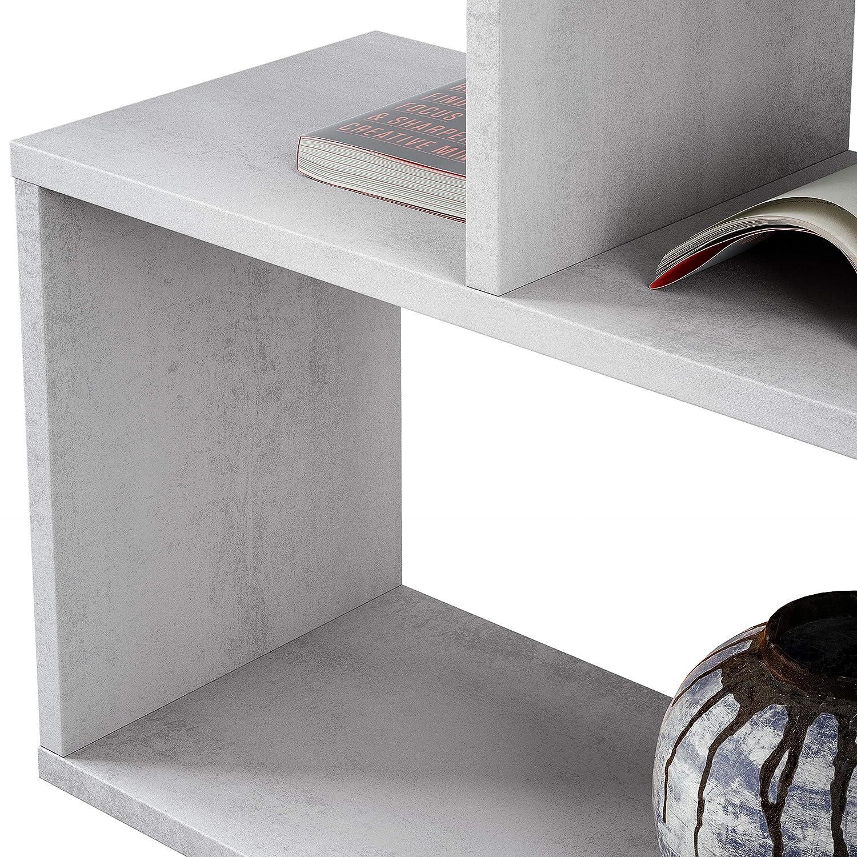 Habitdesign 301011L - Estanteria Athena Alta, libreria Abierta Salon, 80 x 25 x 192 cm de Altura (Gris Cemento)