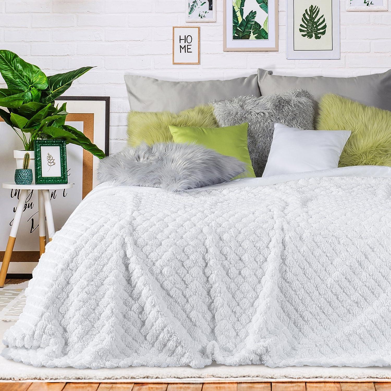 Beige, 170x200 cm Zweiseitig Kelsi. Gesteppt Tagesdecke Weich Decke Kuschelig Einfarbig