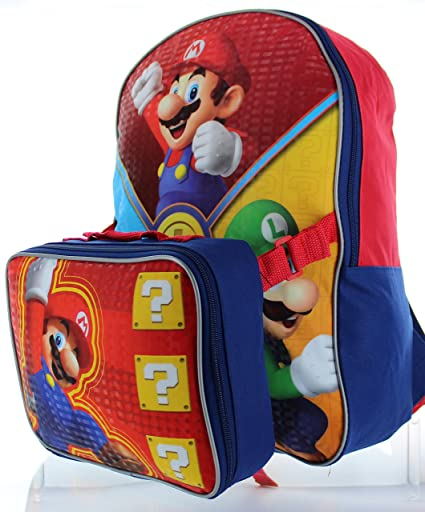 2c4c98465a15 Image Unavailable. Image not available for. Color  Nintendo Little Boys  Super  Mario Backpack ...