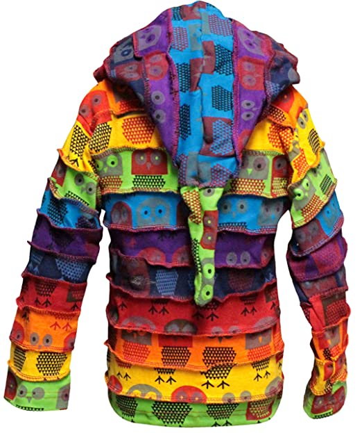 Amazon.com: Shopoholic Fashion Children Pixie Colorful Hippie Striped Hoodie Hippy Boho Kids Sweater Jacket: Clothing