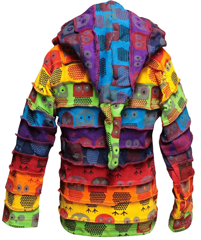 Amazon.com: Shopoholic Fashion Children Pixie Colorful Hippie Striped Hoodie Hippy Boho Kids Sweater Jacket: Clothing