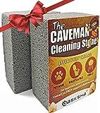 DASKSHA Pumice Stone Toilet Bowl Cleaner and Pool Grout Cleaner - 2 Pack - 4 Inch Pumice Stone Cleaning Tool