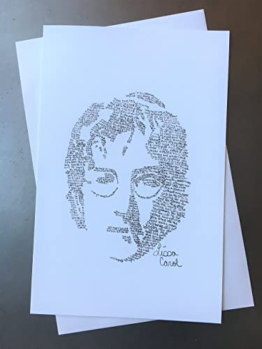 amazon com the beatles john lennon christmas card drawn from his