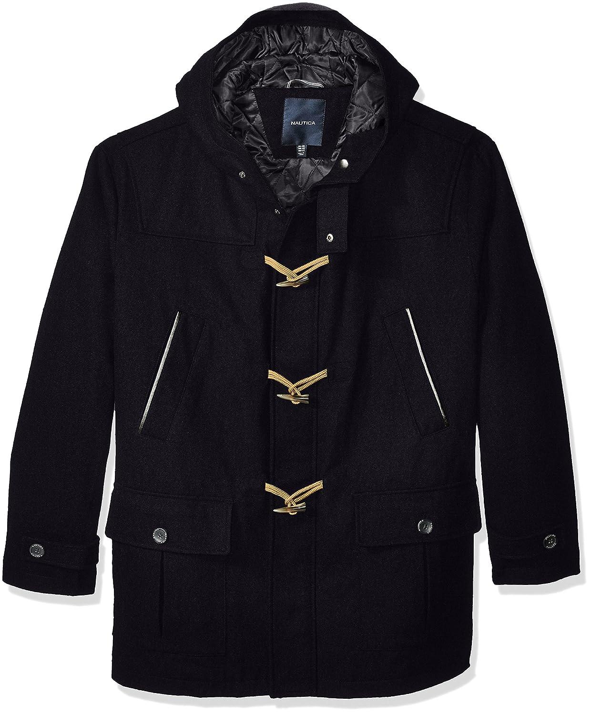 Nautica Mens Big and Tall Wool Toggle Coat