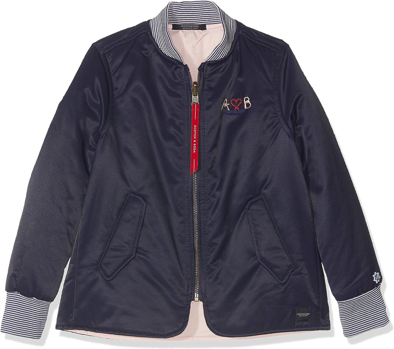 Scotch /& Soda Girls Straight Fit Reversible Bomber Jacket